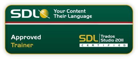 Approved Trainer for SDL Trados Studio 2011 and SDL Multiterm 2011